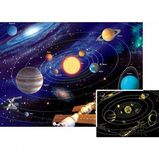 Puzzle 500 pièces phosphorescent - Star Line : Le système solaire - Ravensburger-14926