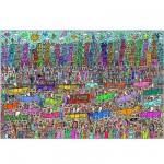 Puzzle 5000 pièces - James Rizzi : Rien n'est aussi beau que la ville Rizzi !