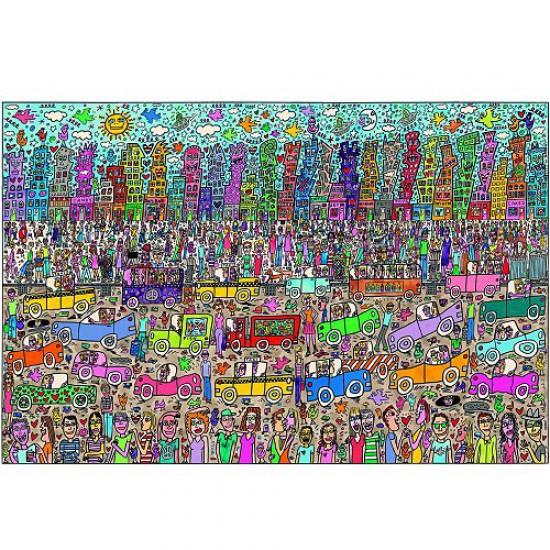 Puzzle 5000 pièces - James Rizzi : Rien n'est aussi beau que la ville Rizzi ! - Ravensburger-17427