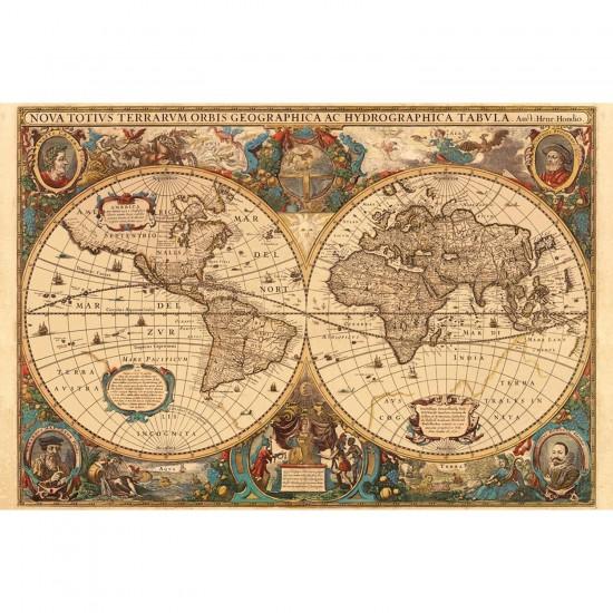 Puzzle 5000 pièces - Mappemonde antique - Ravensburger-17411