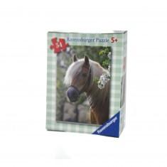 Puzzle 54 pièces : Mini puzzle Chevaux : Buste de cheval
