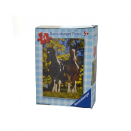Puzzle 54 pièces : Mini puzzle Chevaux : En duo - Ravensburger-09450-9