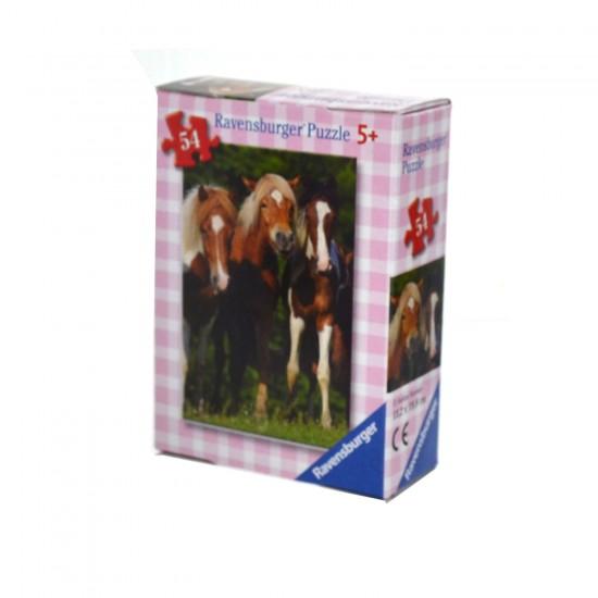 Puzzle 54 pièces : Mini puzzle Chevaux : Trio de poulains - Ravensburger-09450-8