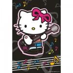 Puzzle 54 pièces : Mini puzzle Hello Kitty : Kitty joue de la guitare
