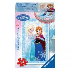 Puzzle 54 pièces : Mini puzzle La Reine des Neiges (Frozen) : Anna et Elsa