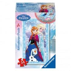 Puzzle 54 pièces : Mini puzzle La Reine des Neiges (Frozen) : Elsa, Anna et Olaf