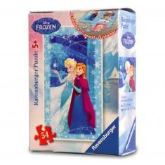 Puzzle 54 pièces : Mini puzzle La Reine des Neiges (Frozen) : Elsa et Anna