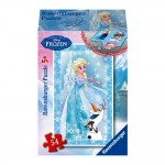 Puzzle 54 pièces : Mini puzzle La Reine des Neiges (Frozen) : Elsa et Olaf