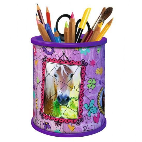Puzzle 54 pièces 3D : Girly Girl Edition : Pot à crayons - Ravensburger-12075
