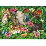 Puzzle 60 pièces - Ambiance tropicale