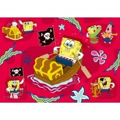 Puzzle 60 pièces géant - Bob l'éponge pirate