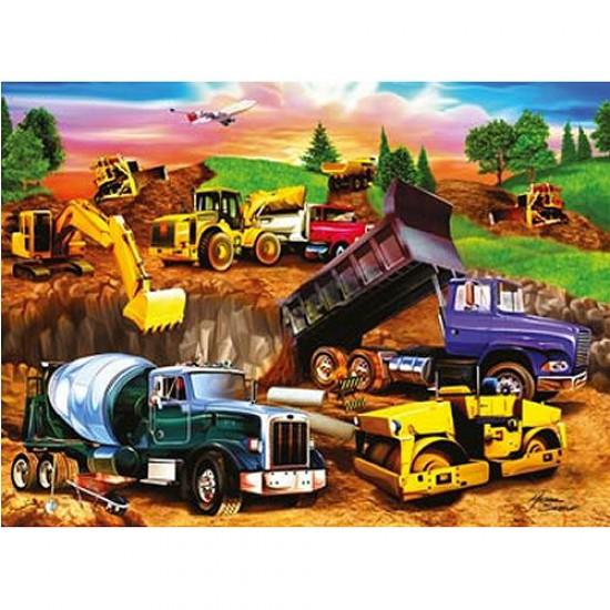 Puzzle 60 pièces - Chantier de construction - Ravensburger-09525