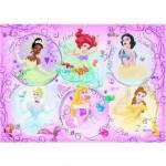 Puzzle 60 pièces géant - Portrait des Princesses Disney