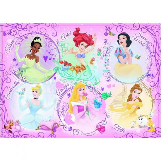Puzzle 60 pièces géant - Portrait des Princesses Disney - Ravensburger-05296