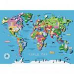 Puzzle 60 pièces : Carte du monde