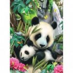 Puzzle 60 pièces : Famille de pandas