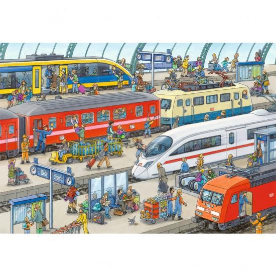 Puzzle 60 pièces : Gare moderne - Ravensburger-09610