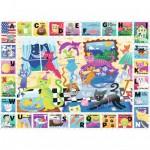 Puzzle 60 pièces : L'alphabet des chats