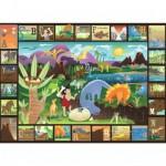 Puzzle 60 pièces : L'alphabet des dinosaures
