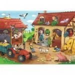 Puzzle 60 pièces : Les travaux de la ferme