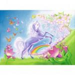 Puzzle 60 pièces : Licorne colorée