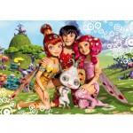 Puzzle 60 pièces : Mia et ses amis