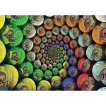 Puzzle 654 pièces : La Spirale de couleurs de Riemann