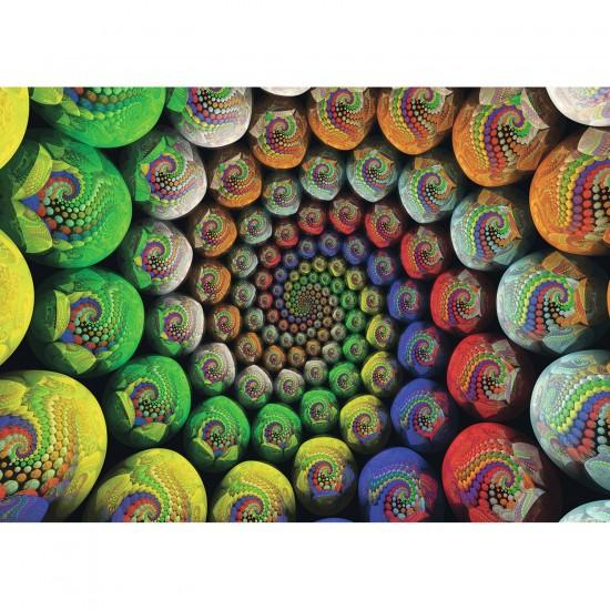 Puzzle 654 pièces : La Spirale de couleurs de Riemann - Ravensburger-15982