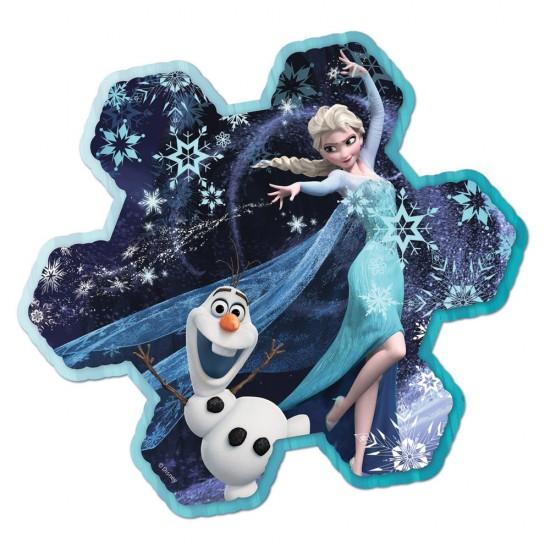 Puzzle 73 pièces : Le flocon de neige d'Elsa - Ravensburger-13641