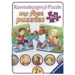 Puzzle 9 x 2 pièces : Mes premiers puzzles Petits aventuriers