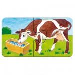 Puzzle 9 x 2 pièces : A la ferme