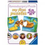 Puzzle 9 x 2 pièces : Adorables animaux