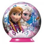 Puzzle Ball 3D 54 pièces : La Reine des Neiges (Frozen) : Anna et Elsa