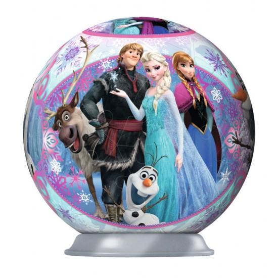 Puzzle Ball 3D 54 pièces : La Reine des Neiges (Frozen) : Les personnages principaux - Ravensburger-11913-4