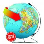 Puzzle Ball 540 pièces - Mappemonde en allemand