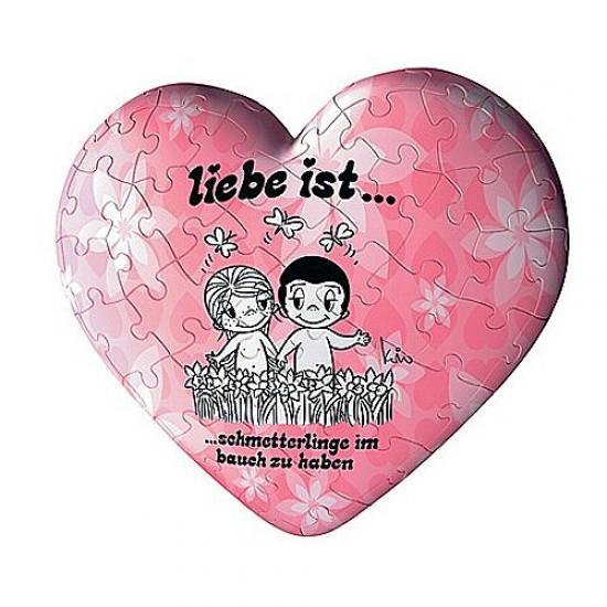 Puzzle ball 60 pièces coeur - Liebe ist... Promenade bucolique - Ravensburger-11412-3