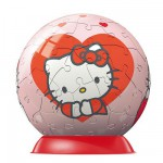 Puzzle ball 60 pièces - Hello Kitty - Coeur