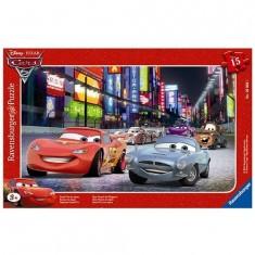 Puzzle cadre - 15 pièces - Cars 2 : Grand Prix du Japon