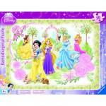 Puzzle cadre - 30 pièces - Princesses Disney : Les princesses au jardin