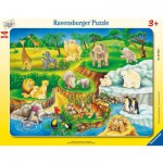 Puzzle cadre : 14 pièces : Visite au zoo