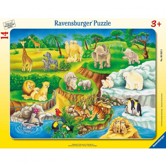 Puzzle cadre : 14 pièces : Visite au zoo - Ravensburger-06052