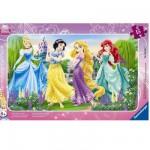Puzzle cadre : 15 pièces : La promenade des princesses