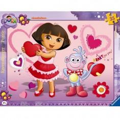 Puzzle cadre : 35 pièces : Adorable Dora
