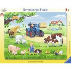 Puzzle cadre 10 pièces : Un été à la ferme