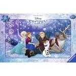 Puzzle cadre 15 pièces : La Reine des Neiges (Frozen) : Sous les étoiles