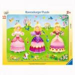 Puzzle cadre 15 pièces : Pretty princesses