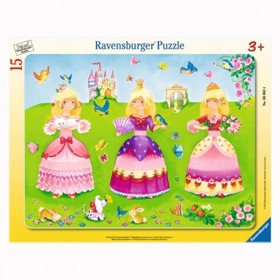 Puzzle cadre 15 pièces : Pretty princesses - Ravensburger-06063