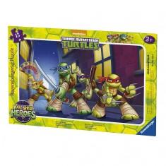 Puzzle cadre 15 pièces : Tortues Ninja : Prêts à l'action