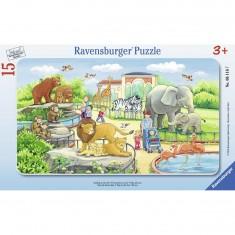 Puzzle cadre 15 pièces : Excursion au zoo