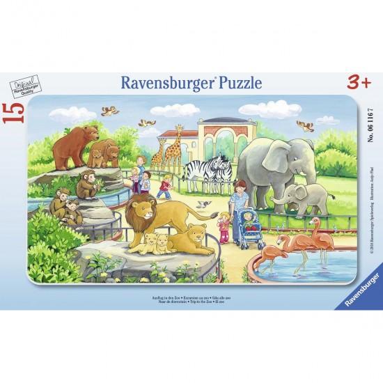 Puzzle cadre 15 pièces : Excursion au zoo - Ravensburger-06116